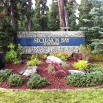 Alaska Commercial Landscaping Commercial Seclusion Bay Signage Island After