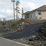 Alaska Residential Landscaping Residential Boulder Slope for Erosion Control - After A