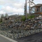 Alaska Residential Landscaping Residential Boulder Slope for Erosion Control - After B