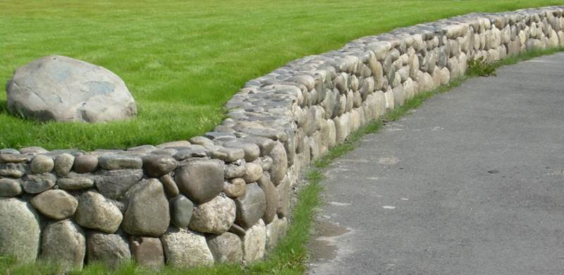 rock wall landscaping retaining wall residentialconcreterockwallretainingsystem alaska residential landscaping snow removal and plowing