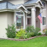 Alaska Residential Landscaping Residential Keystone Garden Border with Shrub and Perennial Plantings