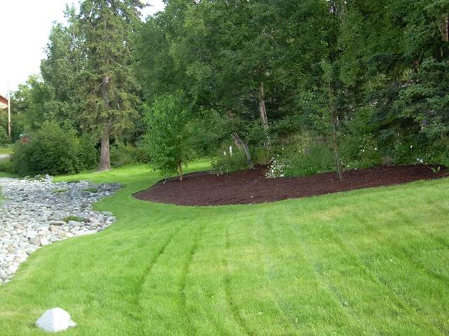 residential-mulch-island-around-natural-vegetation-and-rock-border-after