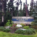 Alaska Commercial Landscaping Seclusion Bay Signage Island Before