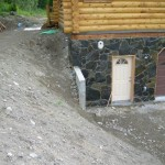 Alaska Residential Landscaping Residential Keystone Retaining Wall System and Steps - Before B