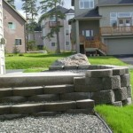 Alaska Residential Landscaping Residential Keystone Retaining Wall System with Steps - After B