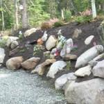 Alaska Residential Landscaping Residential Perennial Garden Rock Retaining Wall System