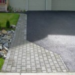 Alaska Residential Landscaping Residential Rock Culvert with I-brick Paver Driveway Border - A